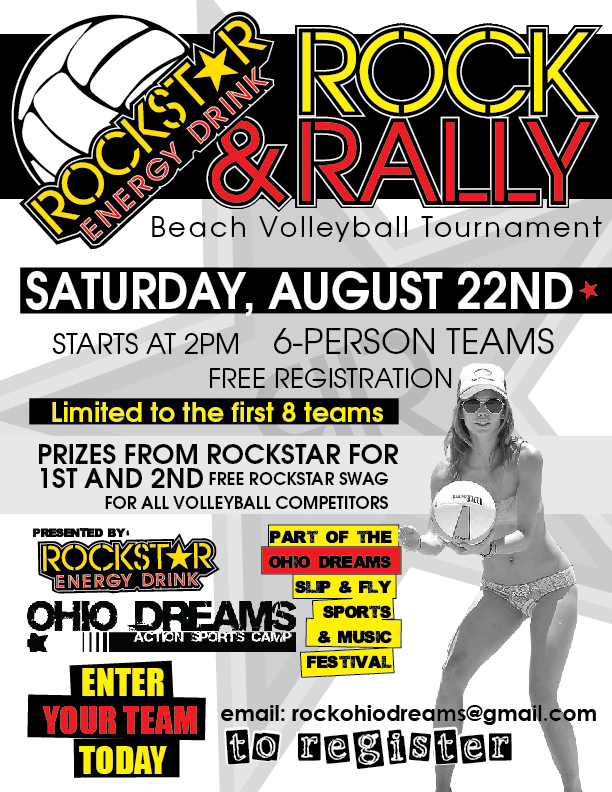 Rockstar presents the Rock & Rally Volleyball Tourney!