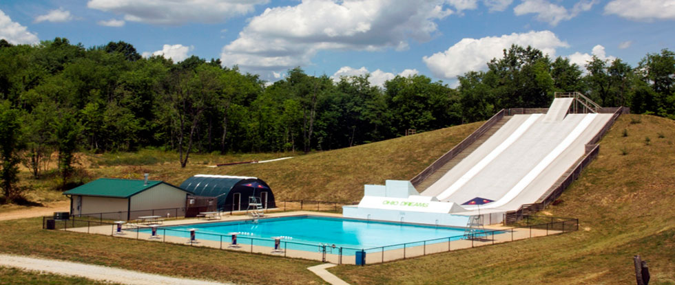 Ski Ramps and Aerated Pool